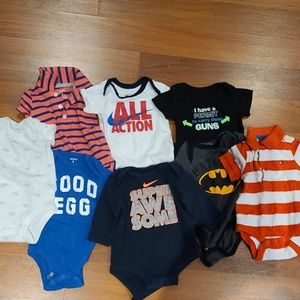 Set of 7 Boys infant Onesies size 3 months